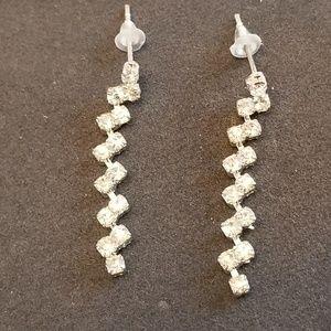 Vintage Evening Sparkle Dangle Earrings